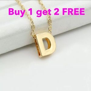 Jewelry - DIY letter initial name D necklace